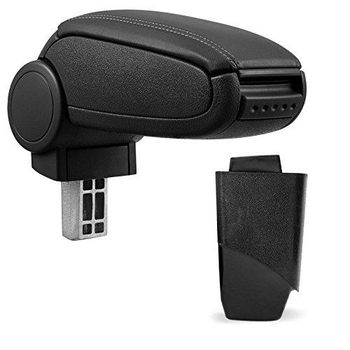 Preisvergleich Produktbild Mittelarmlehne / Mittel-Armlehne mit klappbarem staufach / Mittel-konsole [Leder Look] Fahrzeugspezifisch [Farbe: SCHWARZ]