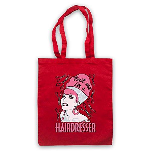 Trust Me I'm A Hair Dresser Funny Work Slogan Umhangetaschen Rot