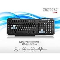 Everest Kb-700, Multimedia Q Klavye, Türkçe Klavye, Siyah