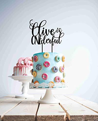 Custom Is One First Birthday Rose Gold 1St Personalisierte Kuchen Holz Acryl ist Alter Name Modern Hochzeit Kuchen Topper Braut und Bräutigam Geschenk für Hochzeitsdekorationen Brautparty Geschenke