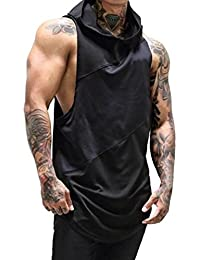 Yvelands Sports Stitching Chaleco sin Mangas Gyms para Hombre Fitness Muscle Mesh Hoodie Camiseta sin Mangas Single Camiseta Top Chaleco Tank Summer, Cheap Clearance!