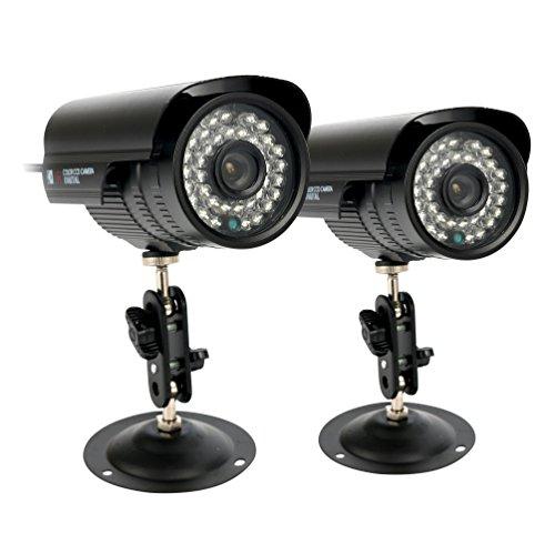 Paar. yaekoo HD 1200TVL Überwachungskamera Sicherheit CCTV Outdoor Nachtsicht Wasserdicht 1/7,6cm CMOS IR-Cut PAL System