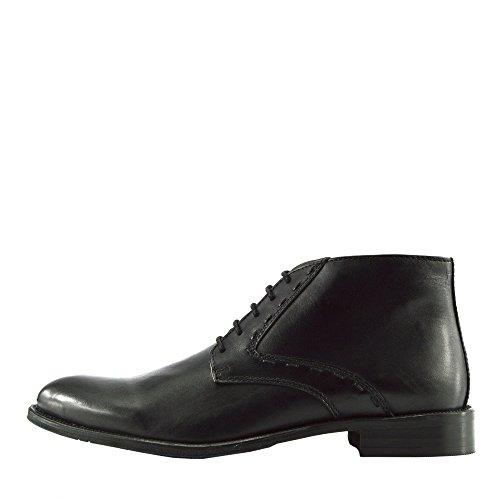 Hommes de Haute Qualité en Cuir Desert Boots Smart Casual de Broglie Cheville Chaussures Noir