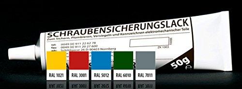 August Müller Schraubensicherungslack RAL 3001 signalrot 50 g Tube