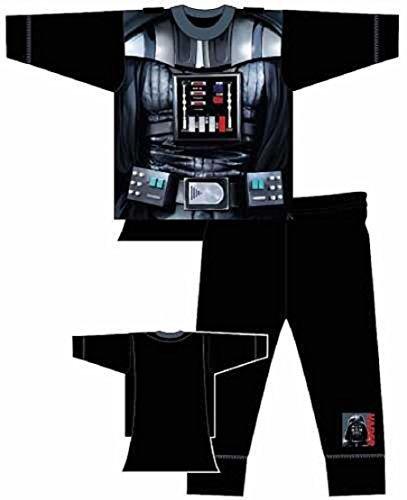 Disney Star Wars Pigiama a forma di costume di Dart Fener (Darth Vader), completo di mantello, per bambini di 3-4 anni