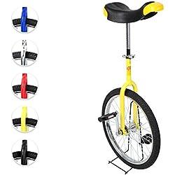 Physionics® - Monociclo 20 pulgadas con estructura de aluminio y acero - regulable en altura - color a elegir
