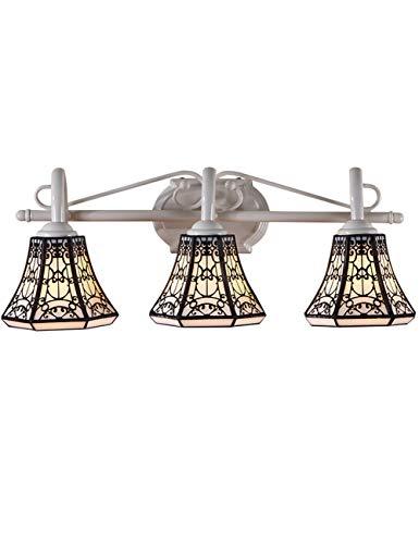 Tiffany Set (KCoob Wandleuchte Set Zwei Blubs DREI Glühbirnen weiß Base Vintage europäischen Stil (Size : 55 * 23 * 21cm))