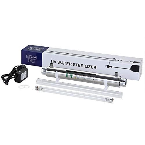 GRASSAIR 55W Ultra Violeta Agua Desinfección Filtración Sistema Esterilizador UV 12GPM 2.7 T/H Agua...