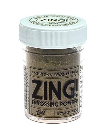 American Crafts 1-Piece 1 oz Zing Metallic Embossing Powder, Gold
