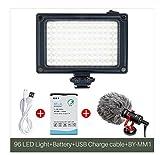 WANGYONGQI 96 LED Videotelefono Luce Fotocamera Illuminazione Foto Foto Hot Shoe Lampada LED,D
