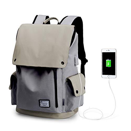 Wind Took zaino portatile impermeabile 15.6 pollice zaino laptop zaino unisex zaino con usb multiuso backpack laptop per università lavoro viaggio giallo