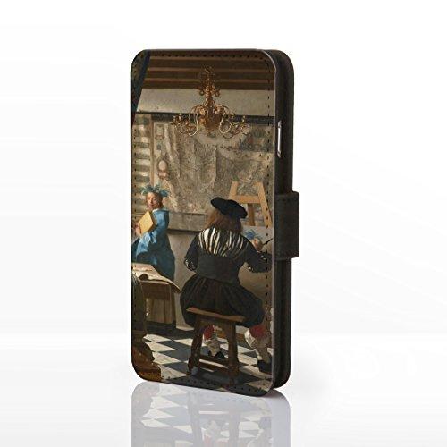 Classic Art Collection Fällen für das iPhone Reihe. bekannten Künstlerin Gemälde Bezüge, Kunstleder, 2: The Kiss - Gustav Klimt, iPhone 5/5S 19: The Art of Painting - Jan Vermeer