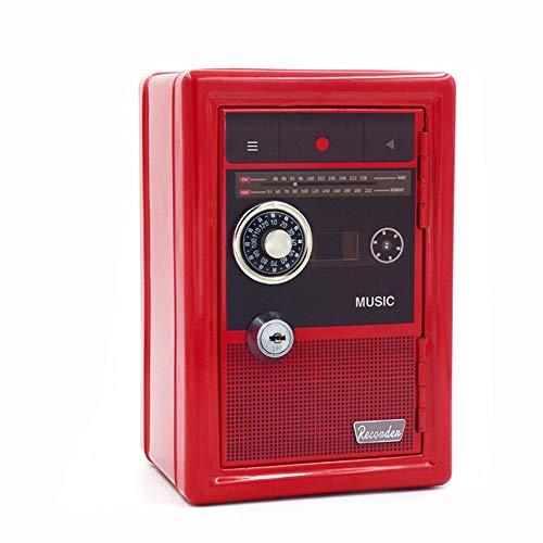HibiscusElla Durable Money Box Mini Piggy Bank Vintage ATM Password Coin Box Automatic Deposit Money Saving Box -