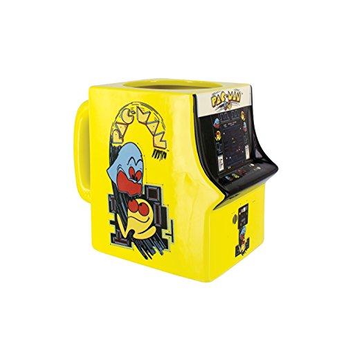 Pacman Pac-Man 3D Tasse, Keramik, Mehrfarbig, 14 x 8 x 11 cm, 2 (Kinder Zeichen Trinkbecher)