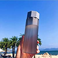 FEJK Water Bottle Mixer My Sports Drink Bottle Water Pump Protein Square Camping Frosted Outdoor Space Plastic Cup 380Ml