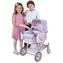 Decuevas Toys - Muñeca Triana, coche 3 en 1 con bolso doble, acolchado y cubre reversible, 45x70x70 cm