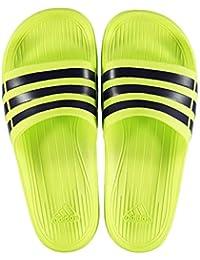 online retailer 32ddb 84c33 adidas Duramo Slide, Men s Open Toe Sandals (Yellow Black) 10 UK (