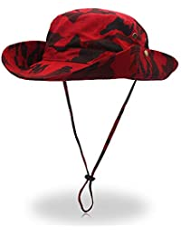 Xeb Sombreros de ala Ancha Secado rápido Deporte Al Aire Senderismo Ocio  Gorra Sombrero de Pescador de ala anchaSombrero de… d9d4a8d0733