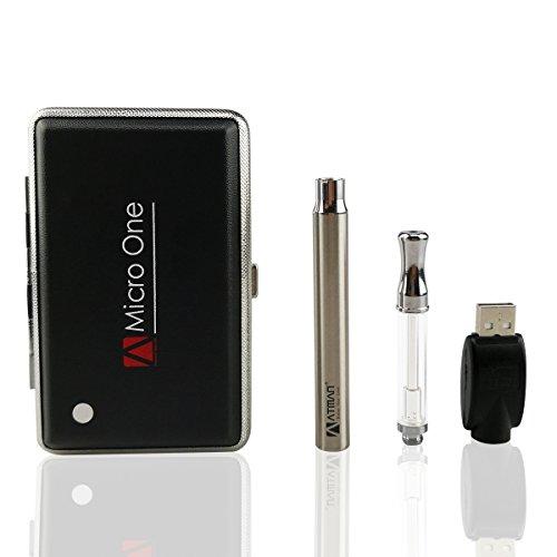 ATMAN vape kit vaporizer pen für Cbd Öl,e zigarette liquid,wird durch keramische Spule, Glasrohr und Edelstahlmundstück, reiner Geschmack, kein Nikotin gemacht