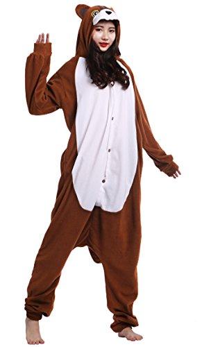 Pyjama Tier Onesies Erwachsene Unisex Cospaly Eichhörnchen Geeignet für Hohe 160-175CM