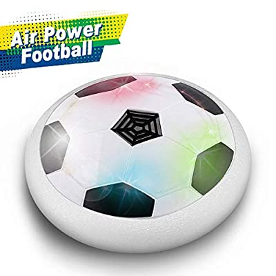 JT811 Unisex's Kids Toys Age 3-10, Ball Electric Soccer Hovering Training Football Soft Padded Rubber Foam Protector with Colorful LED Lights Christmas Birthday Gifts, B-White, one