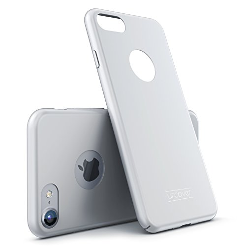 Urcover® Kompatibel mit Apple iPhone 7 Ultra Slim Hardcase   Kunststoff Silber   Case Handy-Cover Schutz-Hülle Schale Zubehör