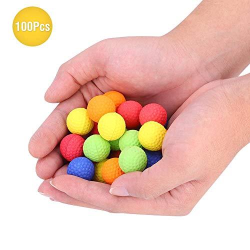 Tbest Toy Bullet Ball Balle en Mousse Souple colorée Remplace Les balles de Rechange pour Nerf Rival Zeus Apollo