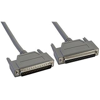 Amphenol CS-DSSMDB37MF-005 37-Pin DB37 D-Sub Cable, Shielded, Male/Female, 5', Gray