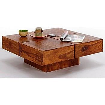 Wonderful TimberTaste Cento Solid Wood Coffee Table (Teak Finish)