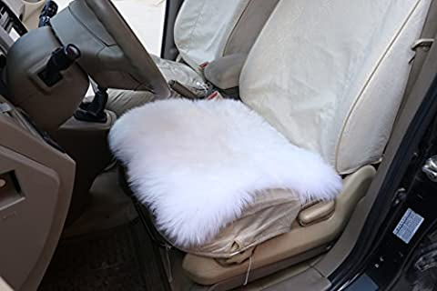 WOLTU AS7339cm Luxury Lambskin Wool Fleece Car Seat Cushion Sheepskin Car Seat Cushion for Decoration and Warm in Winter, ca.6cm thick, 50 x 50cm,