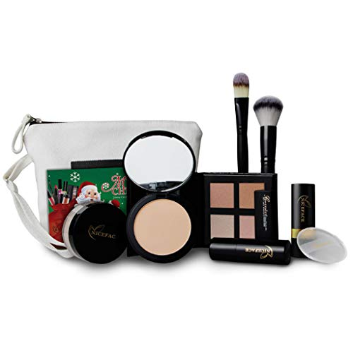 FantasyDay 9St Multifunktions Luxus Make-up Kit Schmink Set Geschenk Kosmetik Set Weihnachten Makeup Set Kosmetikkoffer Multikoffer...
