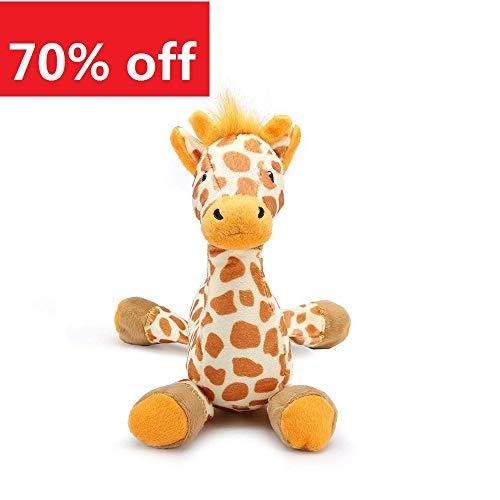 Pro Goleem Soft Dog Toy Pet Plush Squeaky Toys for boredom Puppy (Giraffe)