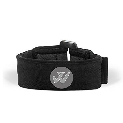 Wwin Multi Farbige Handgelenk Brieftasche/Sport-Armband Passt für Männer Frauen - Ein identifizierbarer Sport Armband, Perfekt für Veranstaltungen Laufen Fitness-Training Wandern Reisen - Schwarz (Straße Armband)
