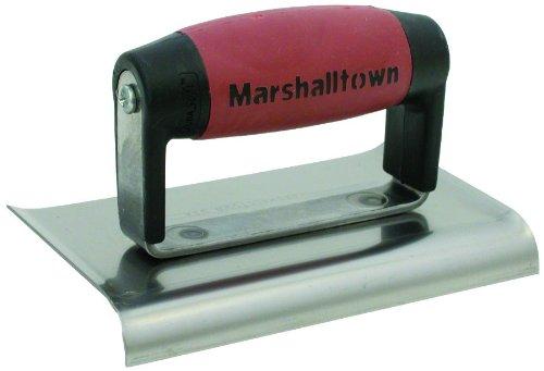 Marshalltown 136D 6 x 3 Stahlkantenkelle-Gebogene Enden-3/8R, 1/2L DuraSoft Griff