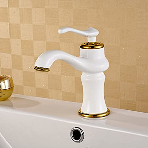 JinRou Fashion design style high-quality gold-plated Robinet eau chaude et froide robinet évier robinet bassin
