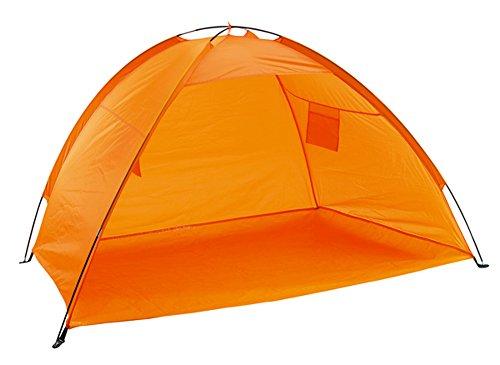 Strandmuschel mit UV Schutz mit Tasche Strandzelt Orange Windschutz Strand oder Sonnenschutz