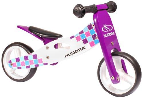 HUDORA 10342 - Bicicletta senza pedali, in legno, colore: Lilla
