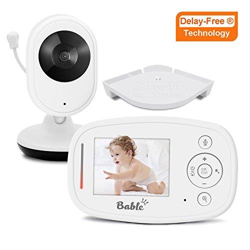 Bable Babyphone mit Kamera X1-Plus Delay-Free Technologie 2,4GHz Babyfon mit Eckeregal