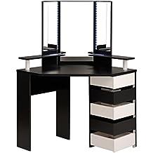 meuble coiffeuse avec miroir. Black Bedroom Furniture Sets. Home Design Ideas