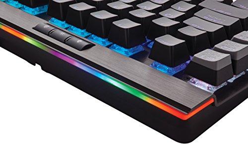 Corsair Gaming CH-9127014-DE K95 Platinum RGB Rapidfire Cherry MX Speed Multi-Colour RGB Beleuchtung Mechanische Gaming Tastatur DE, Schwarz -