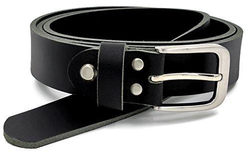 Fa.Volmer Nero Cintura 100% pelle di bufalo 30 di larghezza e circa 3 4 di spessore accorciabile cintura pelle per abito uomo jeans #GSw300801