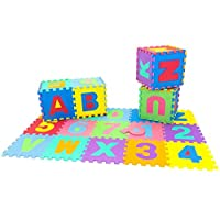ABC 123 Letters and Numbers Colourful (4 Sizes) Foam Play Mats Padded Soft EVA Foam Baby Children Kids Play Mat Alphabet Number Puzzle Jigsaw Activity Foam Soft