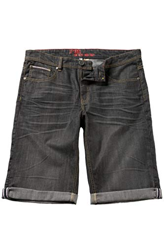 JP 1880 Herren große Größen bis 66, Jeans-Bermuda, Denim-Shorts, Kurze Hose, Stretch, Regular Fit & 5-Pocket, Baumwolle Black 52 702206 11-52