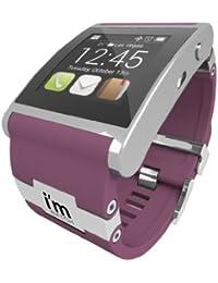 I 'm 128MB Watch Uhr mit Kautschuk Armband Silber, flieder