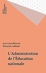 L'Administration de l'Éducation nationale