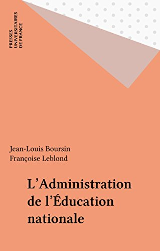 L'Administration de l'Éducation nationale