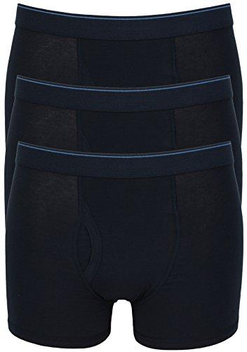 Ex Store Herren Boxershorts aus Baumwolle, mit elastischem Eingriff, 3er-Pack 3 Pack Navy Blue