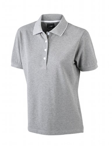 James nicholson polo pour femme flag & Gris (greymelange/white)