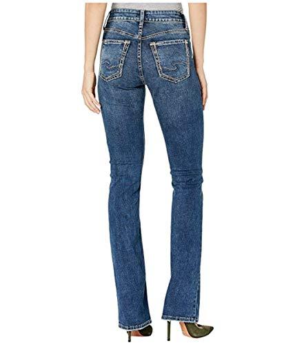 Denim Und Co (Silver Jeans Co. Damen Avery Curvy Fit High Rise Slim Bootcut Jeans, Dark Blue Wash, 30W x 31L)