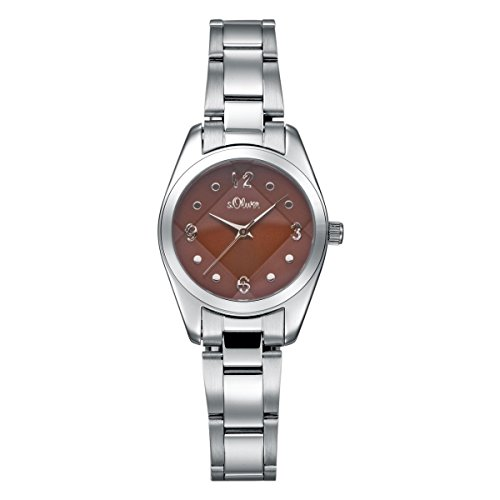 s.Oliver Damen-Armbanduhr Analog Quarz SO-15070-MQR